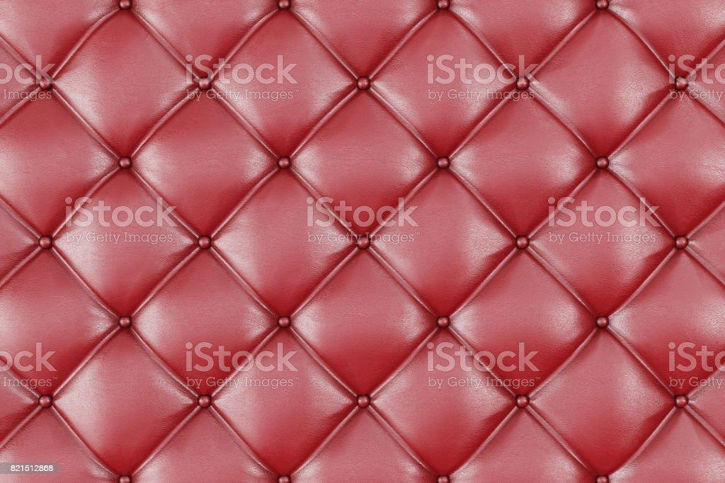 Leather Upholstery Sofa Background Red Luxury Decoration Sofa