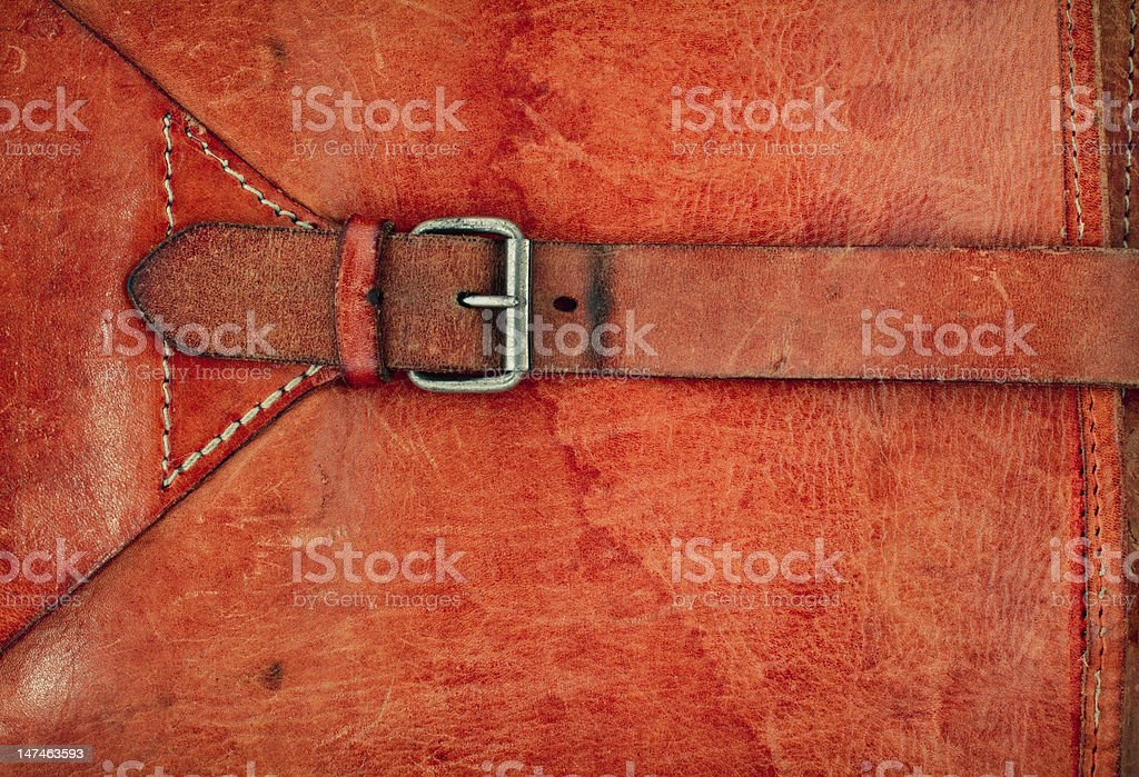 Leather vintage background with a buckle royalty-free stock photo
