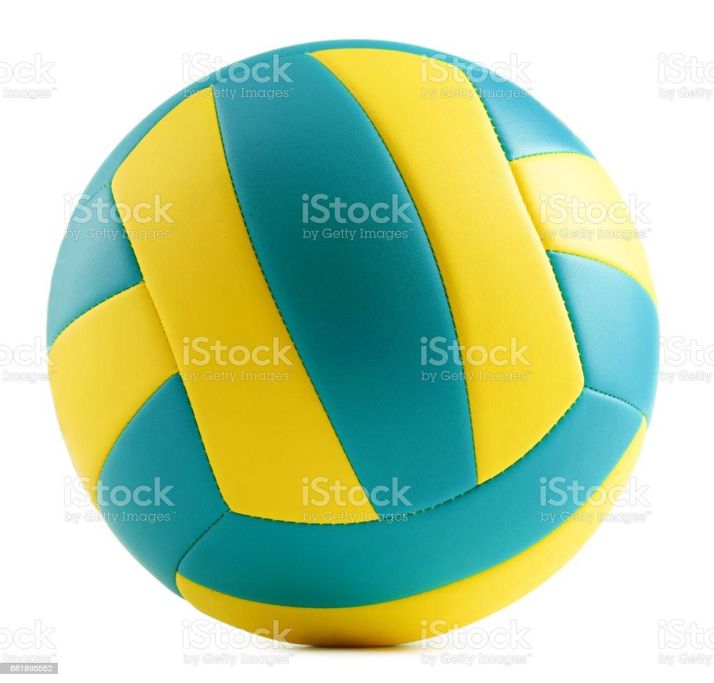 Volley-ball cuir isolé sur fond blanc - Photo