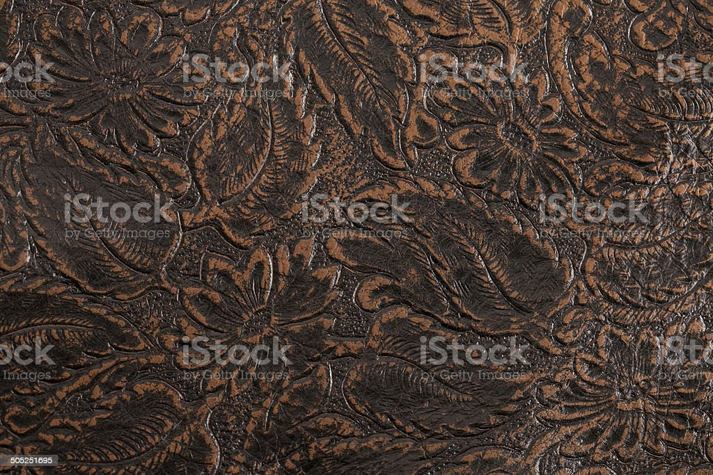 leather wallet on  leather background. stock photo