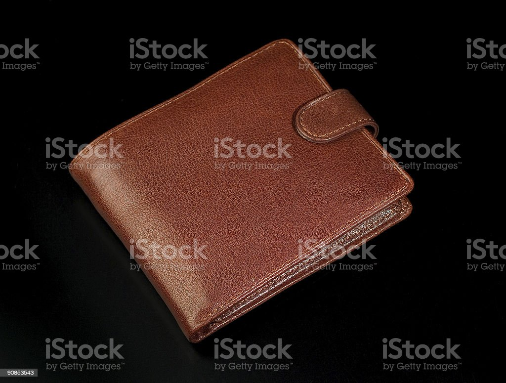 Leather wallet royalty-free stock photo