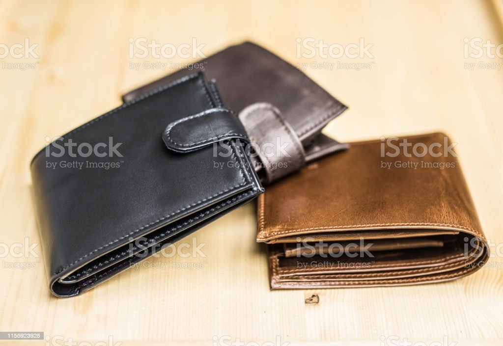 Leather wallets.