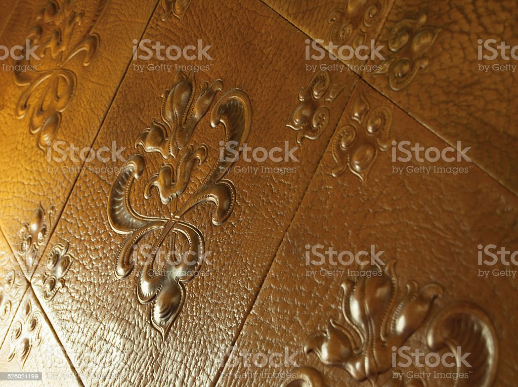Leather Wallpaper Background Royalty Free Stock Photo