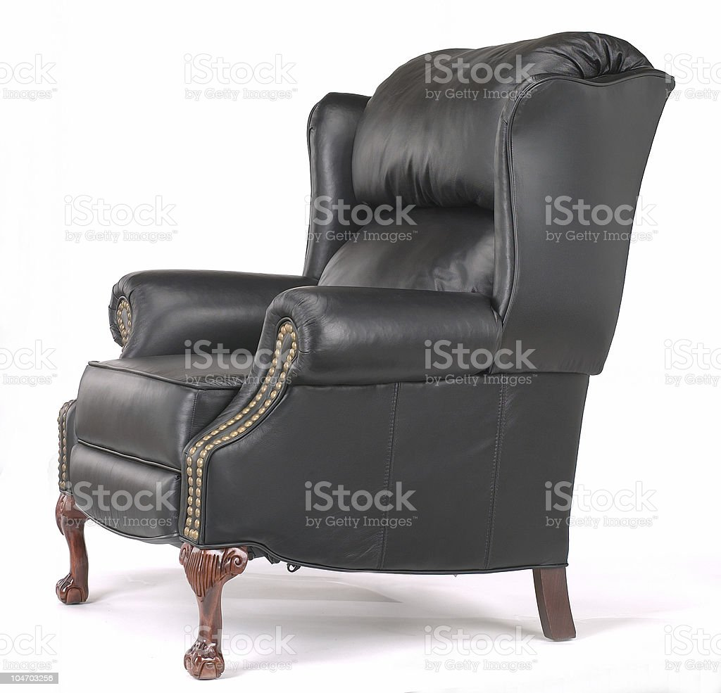 Leather wing chair royalty-free stock photo