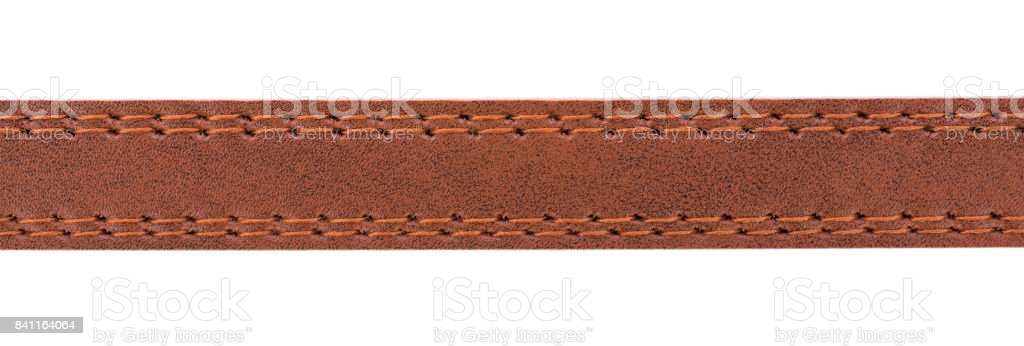 leather with seam, belt background stock photo