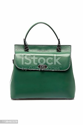 Leather Woman Bag With Oil Painting Photoshop Effect