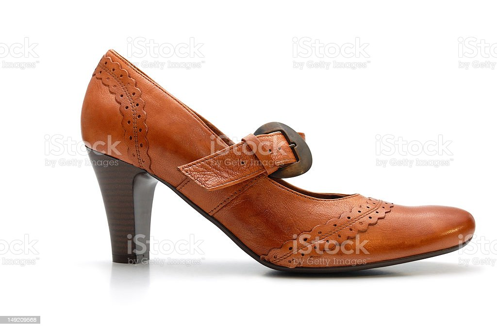 Leather woman shoe royalty-free stock photo