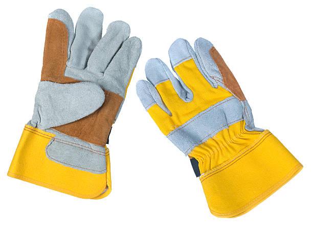die handschuhe aus leder - arbeitshandschuhe stock-fotos und bilder
