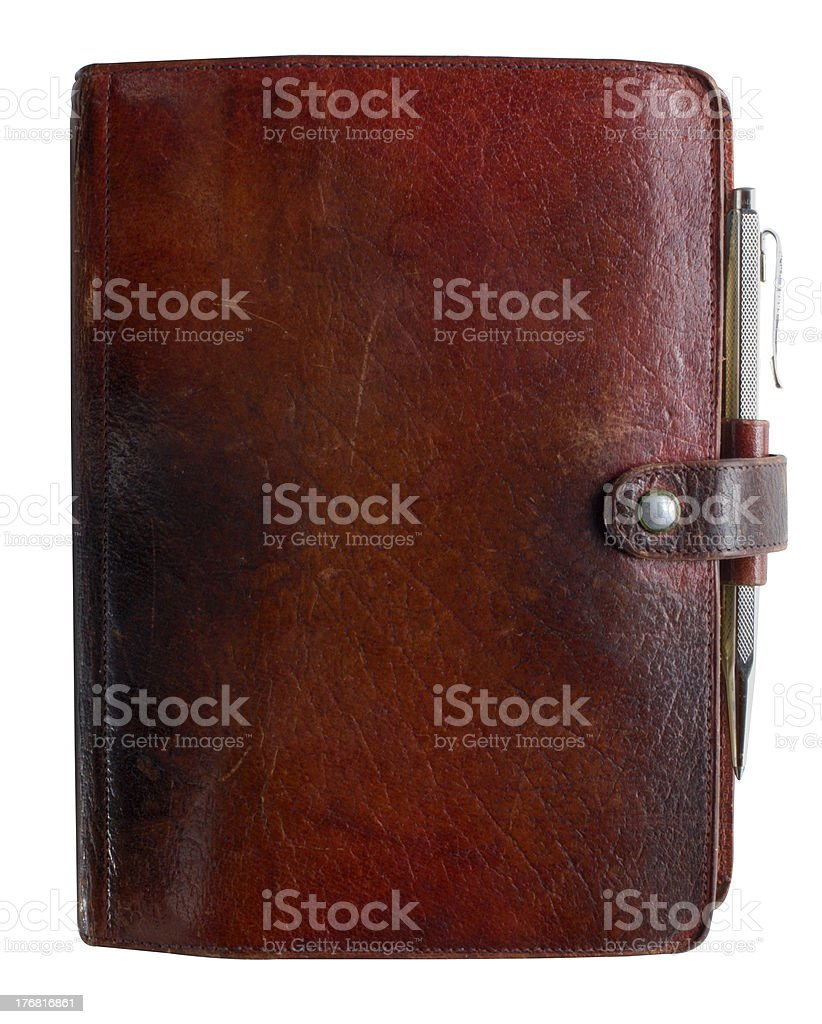 Leather-bound diary royalty-free stock photo