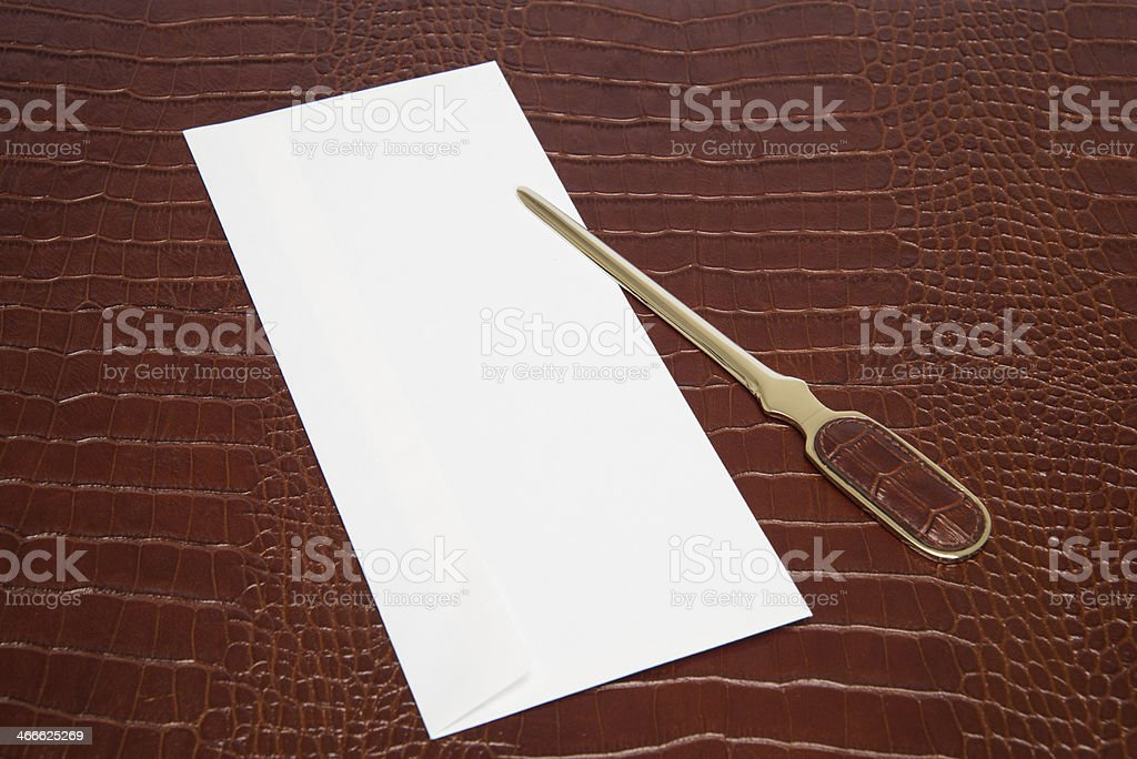 Leather-Handled Letter Opener royalty-free stock photo