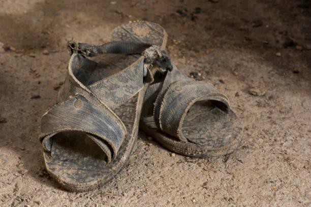 sandália de couro-thonged - sandália - fotografias e filmes do acervo