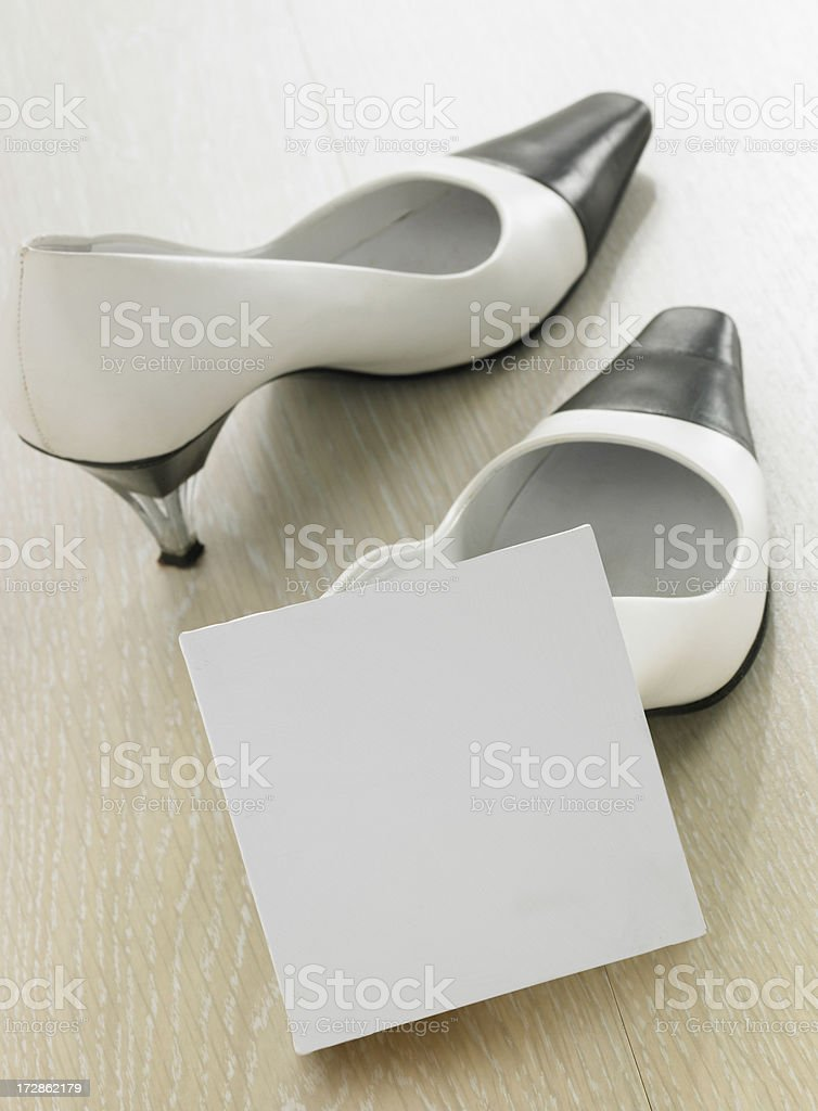 leave a message in the note stock photo