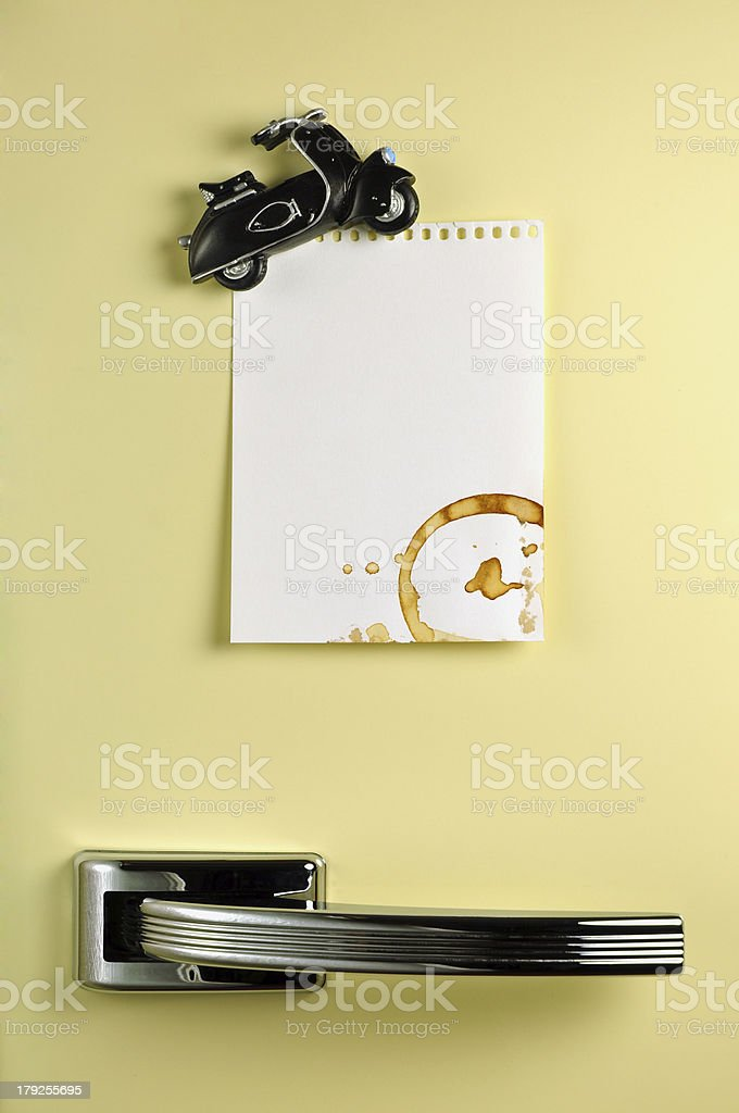 Leave a message on the fridge royalty-free stock photo