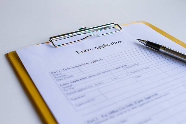 Leave Application Form Leave Application Form absentee stock pictures, royalty-free photos & images