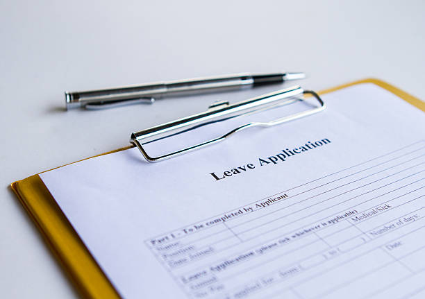 Leave Application Form stock photo