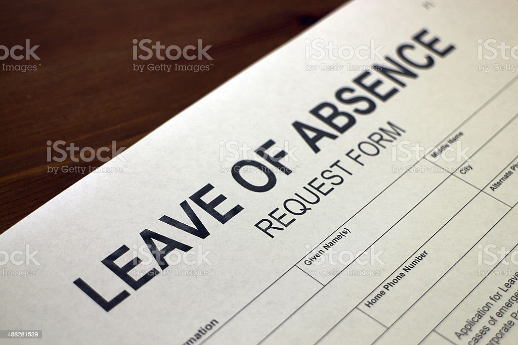 Leave of Absence Request royalty-free stock photo