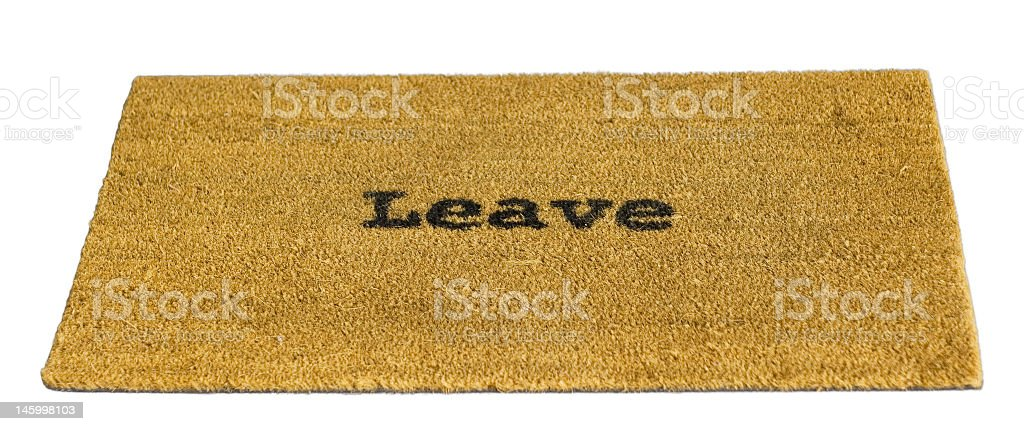 Leave royalty-free stock photo