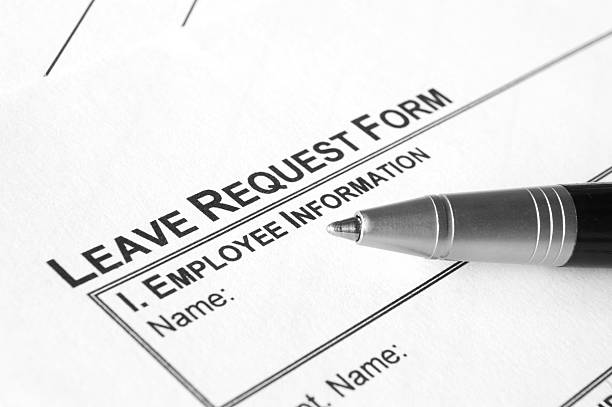 Leave request form stock photo