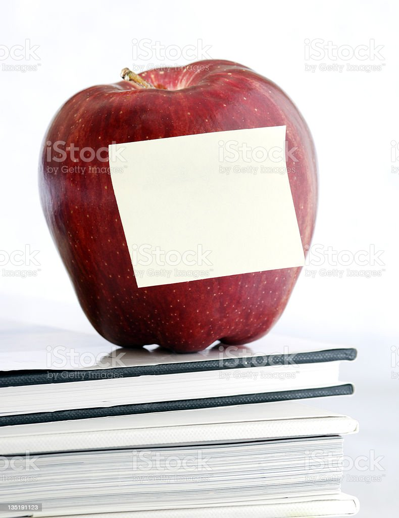 leave teacher a note royalty-free stock photo