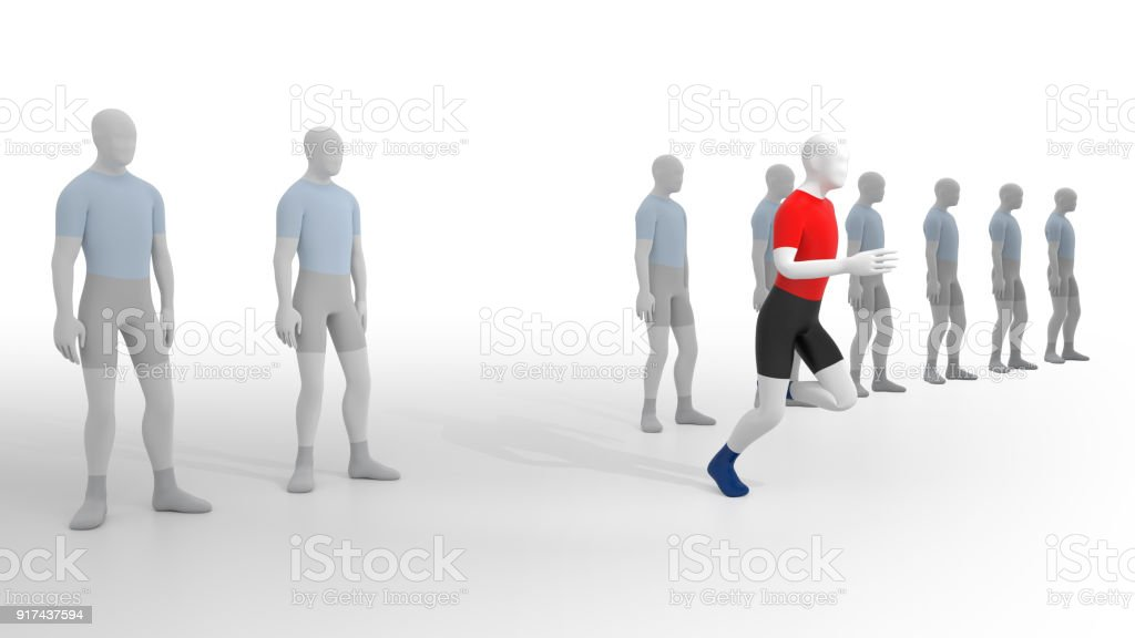 Leave the Crowd. stock photo