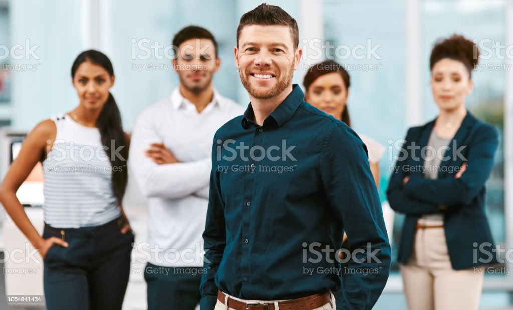 Leave the job to us stock photo