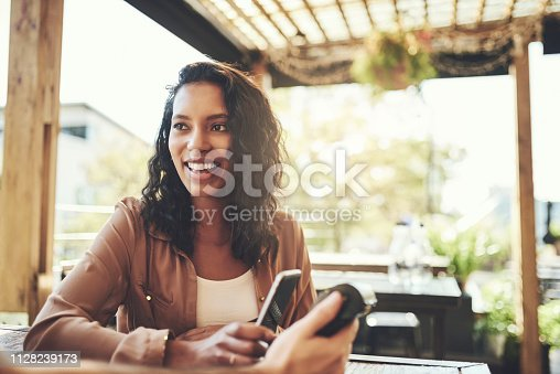istock Leave your cash at home, pay with your phone 1128239173