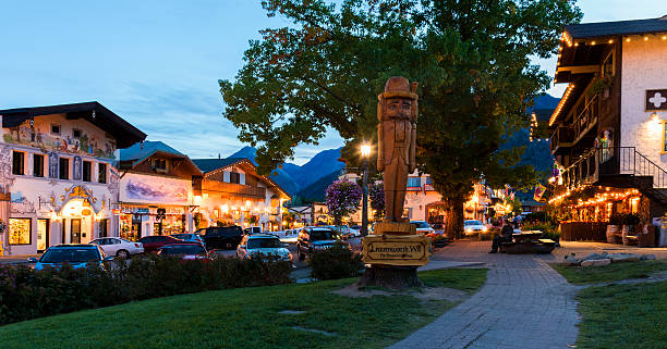 Leavenworth at Night - foto stock