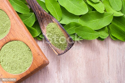 Leaves And Moringa Powder Stock Photo & More Pictures of Africa
