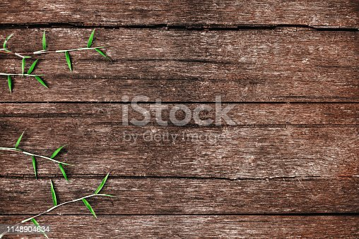 istock leaves on the old wooden background 1148904634