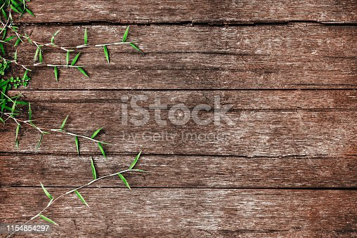 istock leaves on the old wooden background 1154854297