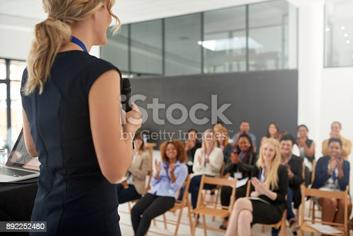 istock Leaving an an impression on her audience 892252480