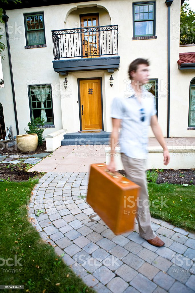 Leaving home royalty-free stock photo