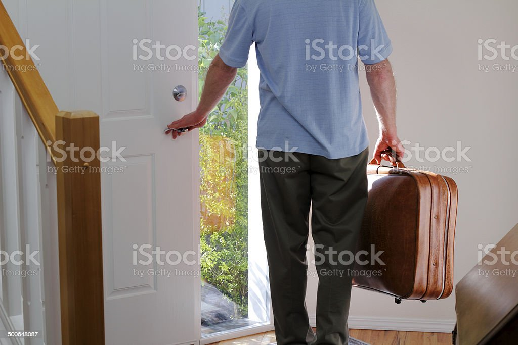 Leaving Home stock photo