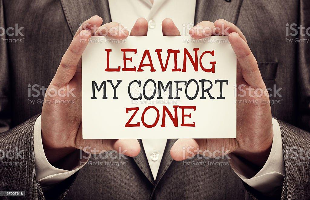 Leaving My Comfort Zone stock photo