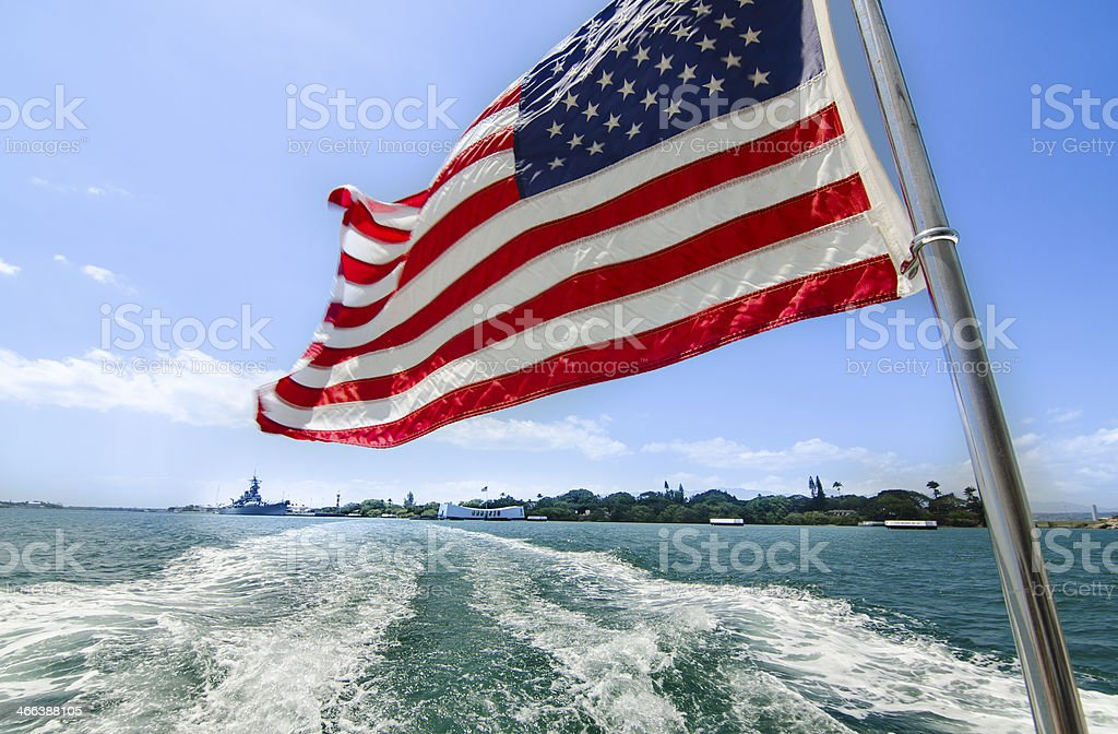 Leaving Pearl Harbor stock photo