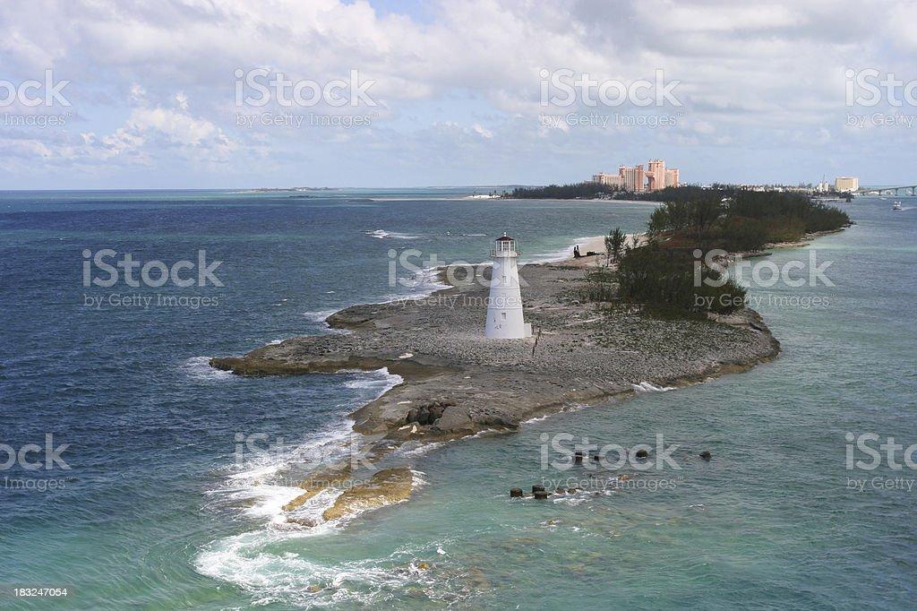 Leaving port of Nassau royalty-free stock photo