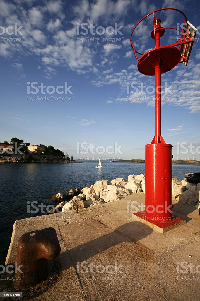 leaving port stock photo