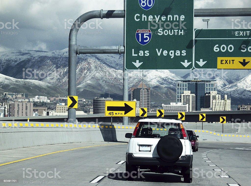 Leaving Salt Lake City stock photo