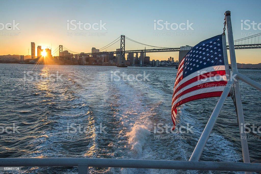 Leaving San Francisco stock photo