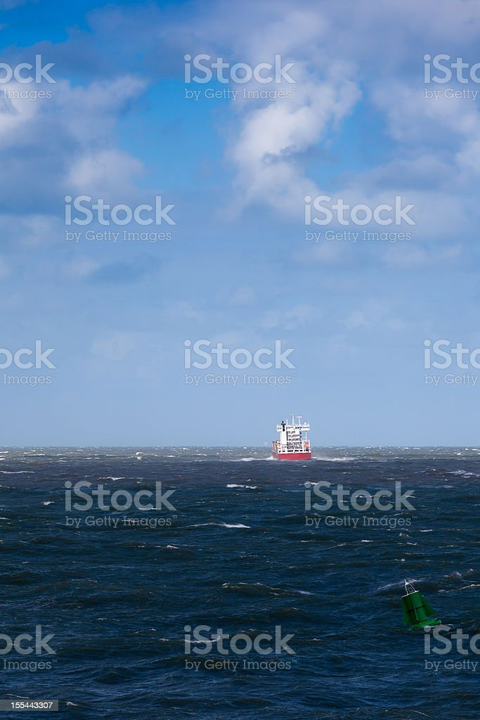 Leaving ship stock photo
