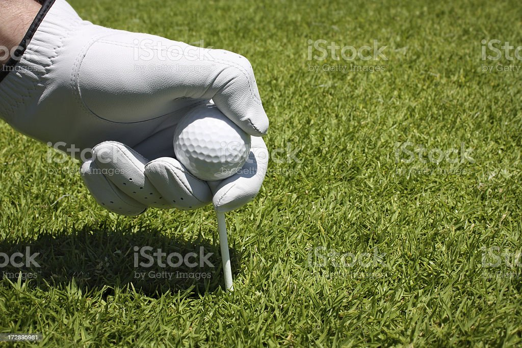 Leaving the ball to hit royalty-free stock photo