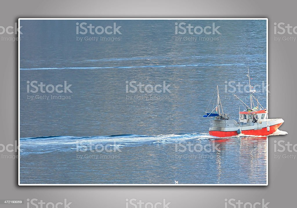 Leaving the fishing grounds stock photo