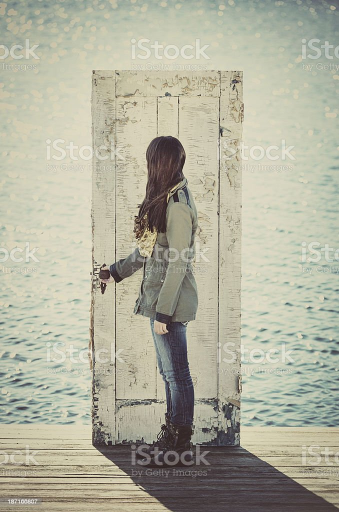 Leaving the Land royalty-free stock photo