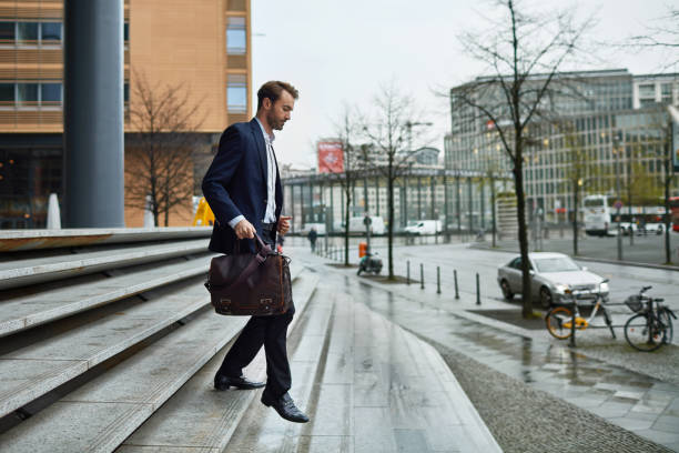 Leaving the office - foto stock