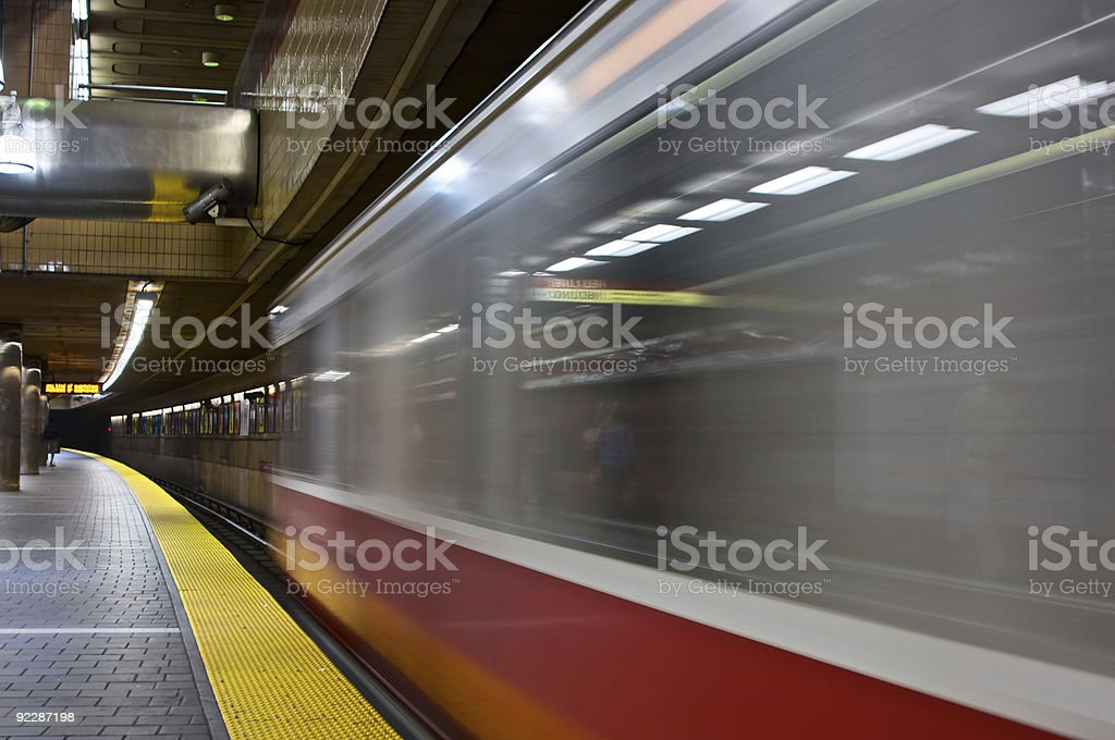 leaving train stock photo
