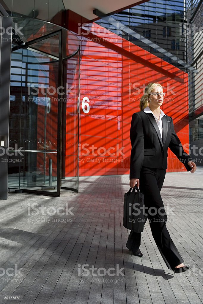 Leaving Work stock photo