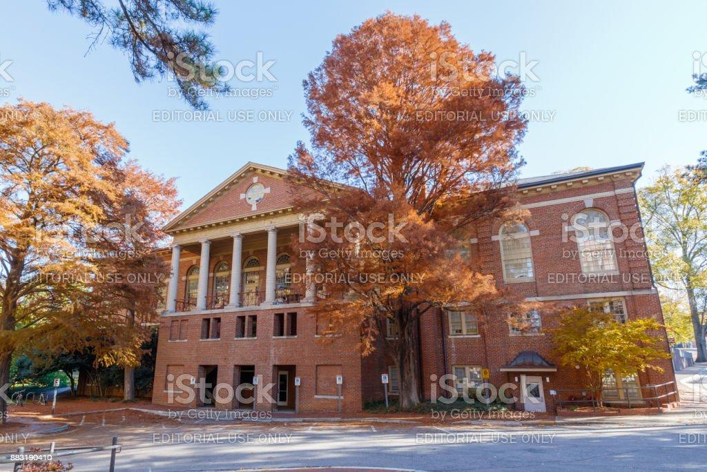 Leazar Hall at NC State University stock photo
