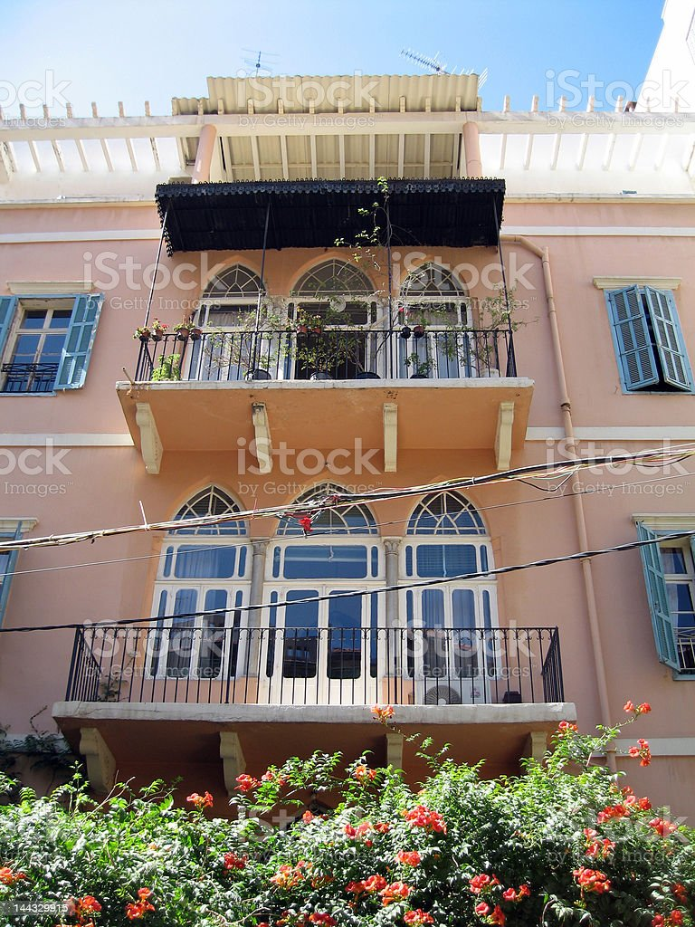 Lebanese facade stock photo