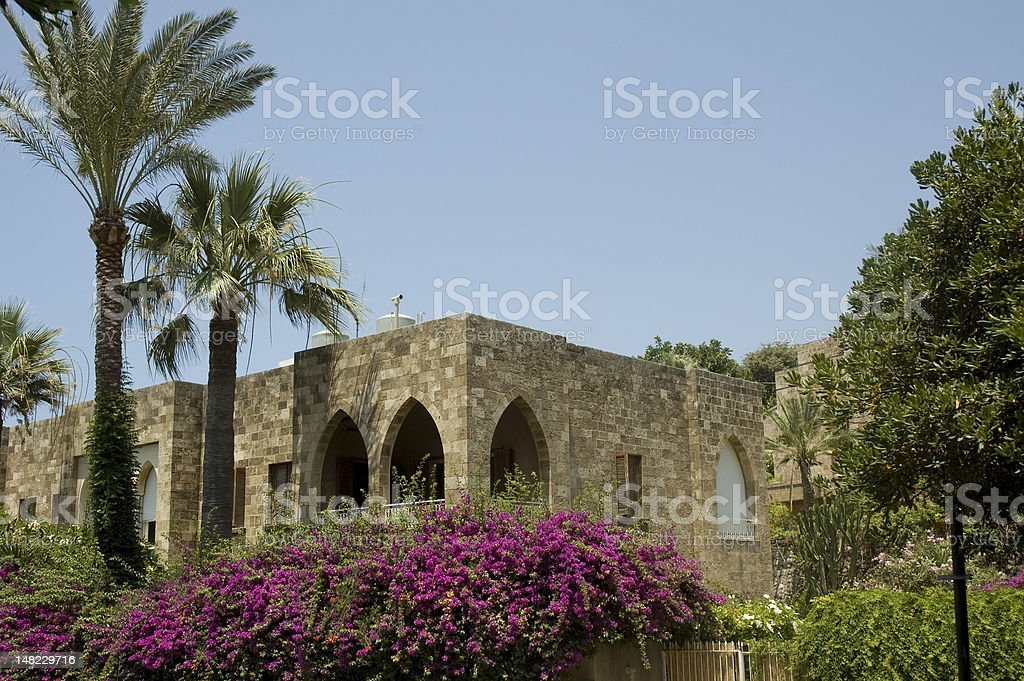 Lebanese house stock photo