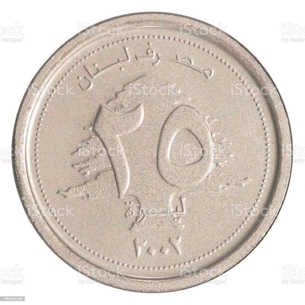 Lebanese livres coin stock photo